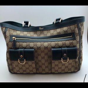 d063780315e Gucci Bags - GUCCI CRYSTAL ABBEY LG POCKET TOTE